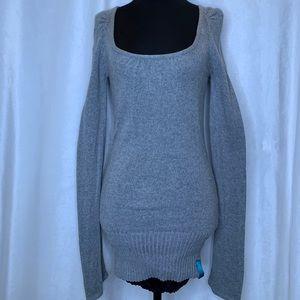Lululemon grey knit tie/v-back sweater